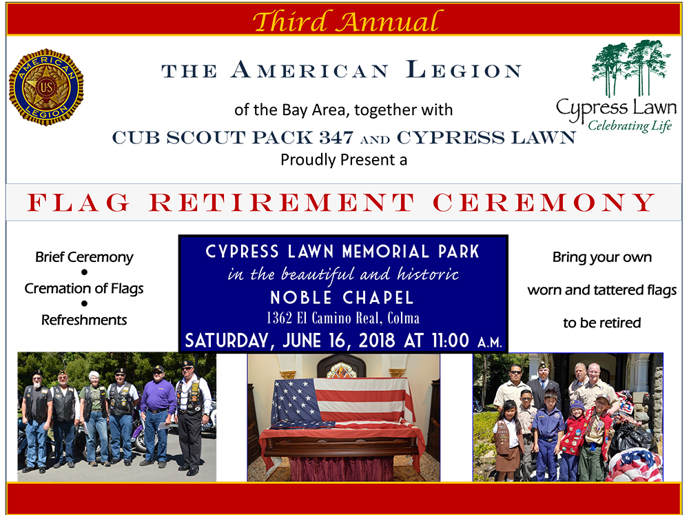 Post 505 American Legion Flag Retirement